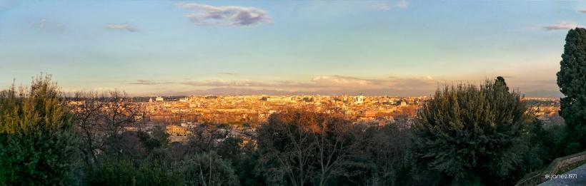 Dal Gianicolo, al tramonto